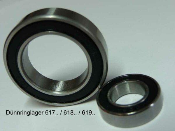 Rillenkugellager 61808-2RS   - beidseitig Dichtscheiben  (40x52x7mm)