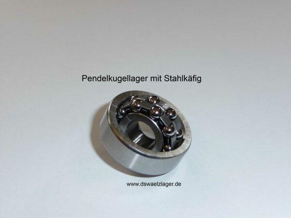Pendelkugellager 129.J   - Stahlkäfig   ( 9x26x8mm )