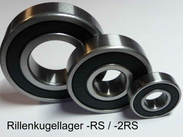 Rillenkugellager 63004-2RS  - beidseitig Dichtscheiben  ( 20x42x16mm )