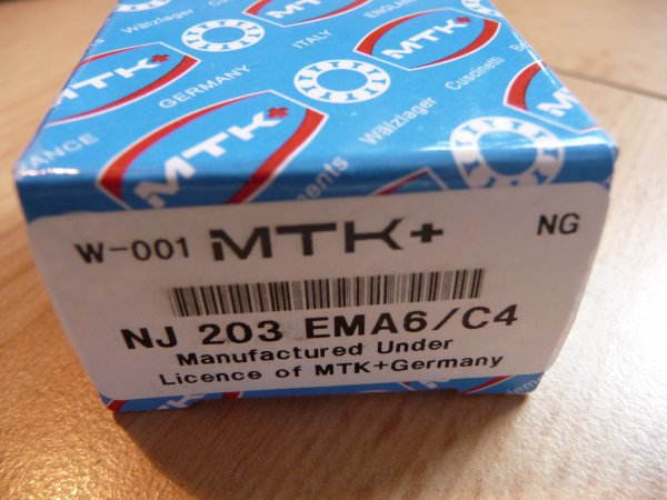 Zylinderrollenlager NJ203E.MA6/C4 - MTK