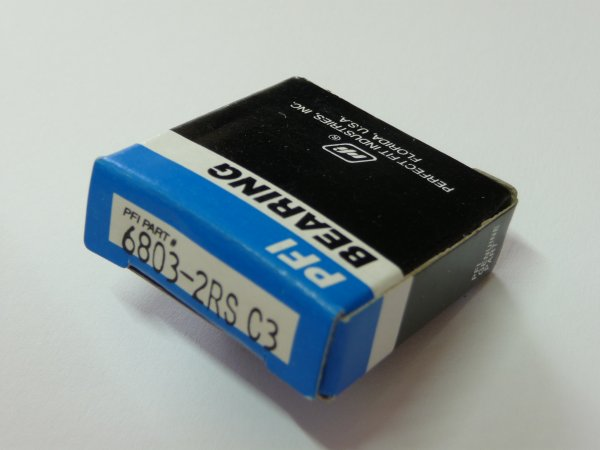 Rillenkugellager 61803-2RS/C3-EMQ - PFI  - beidseitig Dichtscheiben, Lagerluft C3  ( 17x26x5mm )