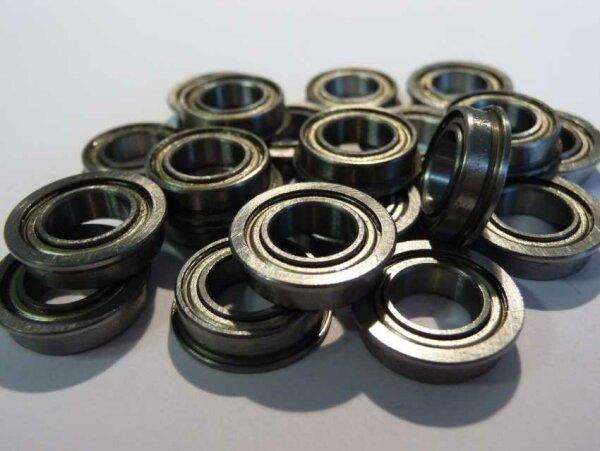 Miniaturlager mit Bund F63800-ZZ - beidseitig Stahldeckscheiben ( 10x19x7mm )