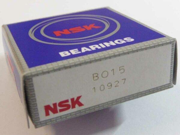 Schulterkugellager BO15 - NSK, Japan   - mit Messingkäfig  ( 15x40x10mm )