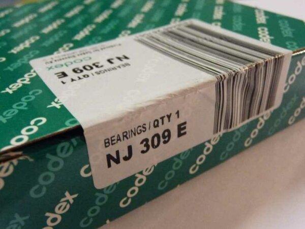 Zylinderrollenlager NJ309 - Codex   ( 45x100x25mm )