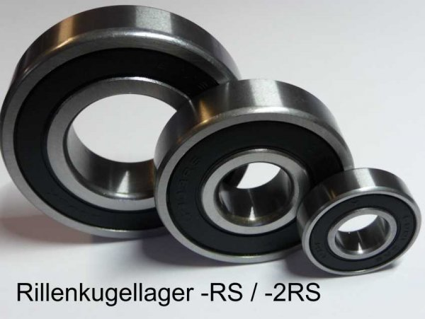 Rillenkugellager 60/32-2RS - beidseitig Dichtscheiben  ( 32x58x13mm )