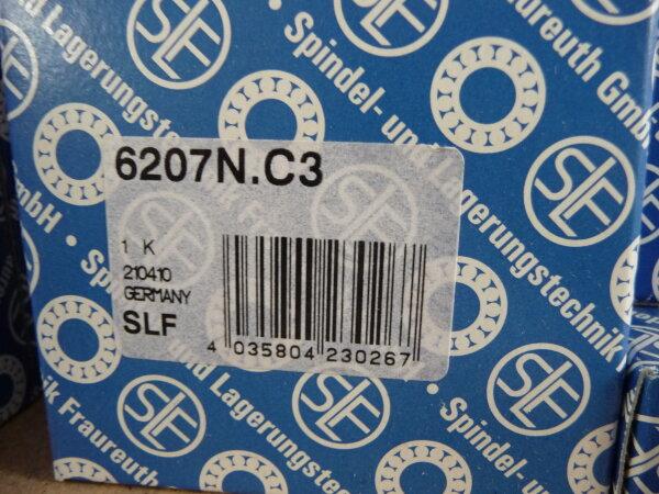 Rillenkugellager 6207.N/C3 - SLF - offene Ausführung, Ringnute, Lagerluft C3  ( 35x72x17mm )