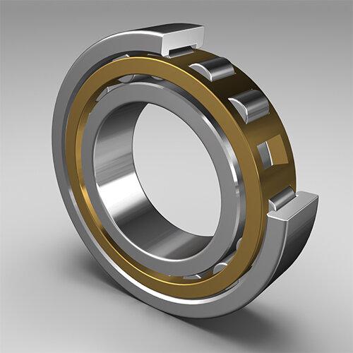 Zylinderrollenlager NU207.E-M - BoBo   - Messing-Massivkäfig  ( 35x72x17mm )