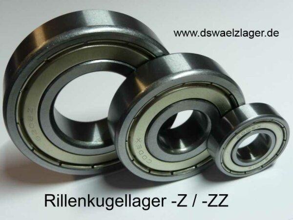 Rillenkugellager 6200-C-2Z-C3 - FAG- beidseitig Stahldeckscheiben, Lagerluft C3 ( 10x30x9mm )