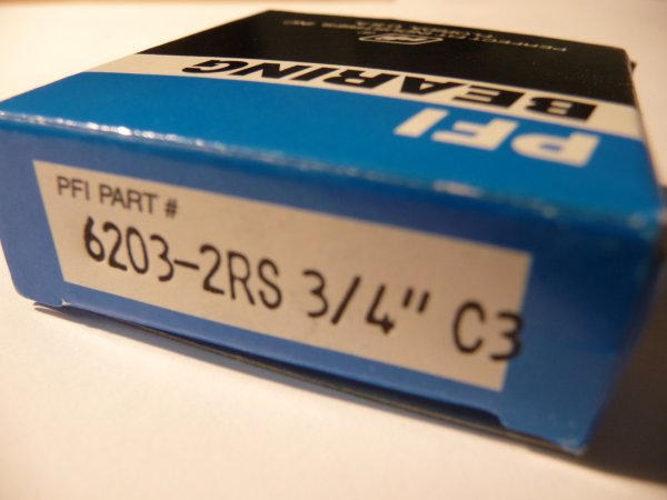 """Rillenkugellager 6203-2RS/C3 d=3/4"""" - PFI  - beidseitig Dichtscheiben, Lagerluft C3  ( 19,05x40x12mm )"""