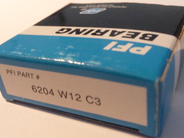 Rillenkugellager 6204-W12/C3 - PFI  - offene Ausführung, Lagerluft C3  ( 20x47x12mm)