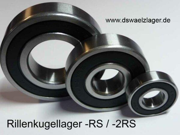 Rillenkugellager 6205-2RS/C3 d=25,4mm, 1 Zoll - beidseitig Dichtscheiben ( 25,4x52x15mm )
