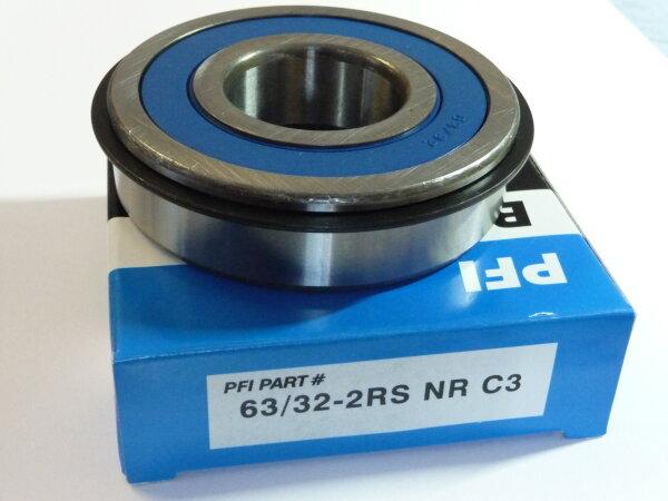Rillenkugellager 63/32-2RS.NR/C3 (32x75x20 mm) - PFI