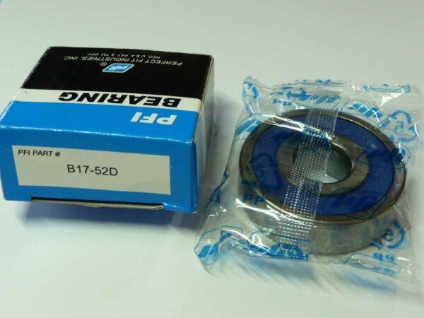 Rillenkugellager B17-52D (17x52x15 mm) - PFI - beidseitig Dichtscheiben  ( 17x52x15mm )