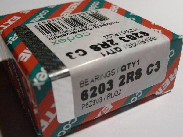 Rillenkugellager 6203-2RS/C3.P6Z3V3.RLQ.EMQ - Codex