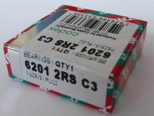 Rillenkugellager 6201-2RS/C3.P6Z3V3.RLQ.EMQ - Codex