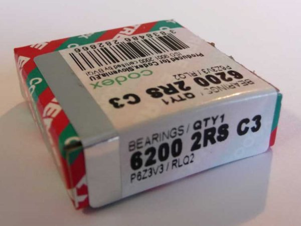 Rillenkugellager 6200-2RS/C3.P6Z3V3.RLQ.EMQ - Codex