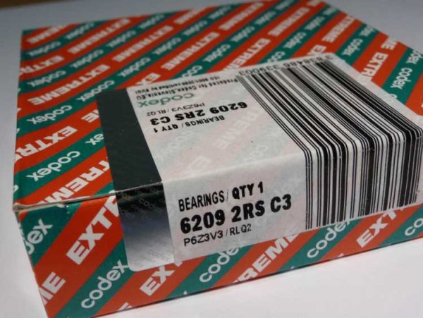Rillenkugellager 6209-2RS/C3.P6Z3V3.RLQ.EMQ - Codex
