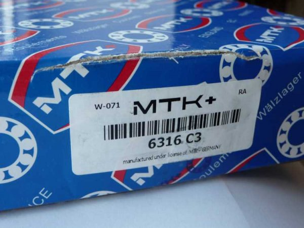 Rillenkugellager 6316/C3 - MTK