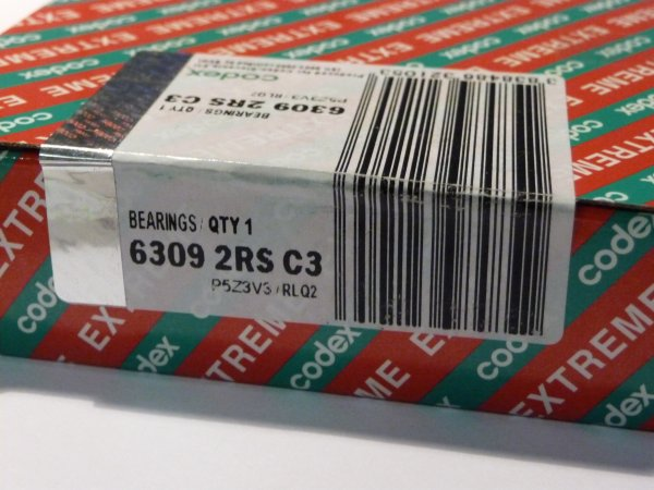 Rillenkugellager 6309-2RS/C3.P6Z3V3.RLQ.EMQ - Codex   ( 45x100x25mm )