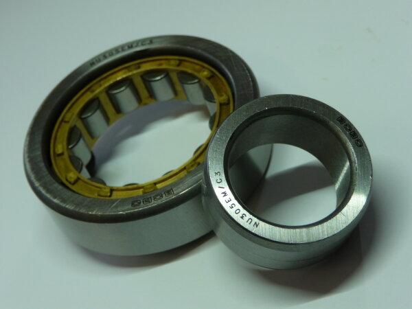 Zylinderrollenlager NU303.E-M/C3 - BoBo   - Messingkäfig  ( 17x47x14mm )