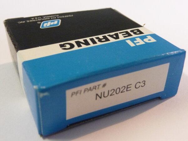 Zylinderrollenlager NU202.E/C3 - PFI  -Stahlkäfig-   ( 15x35x11mm )