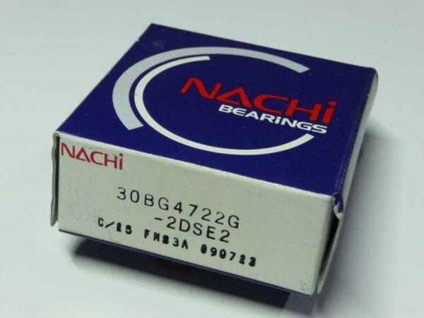 Kompressorlager 30BG4722G-2DSE2 - NACHI, Japan - beidseitig Dichtscheiben, Schrägkugellager, zweireihig ( 30x47x22mm )