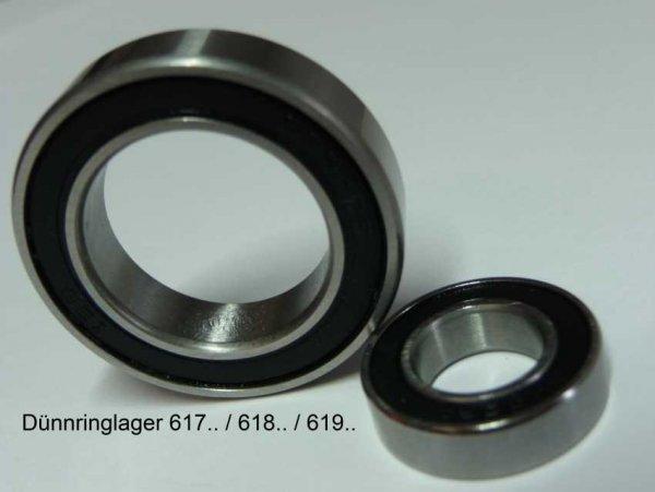 Rillenkugellager 61706-2RS - beidseitig Dichtscheiben ( 30x37x4mm )