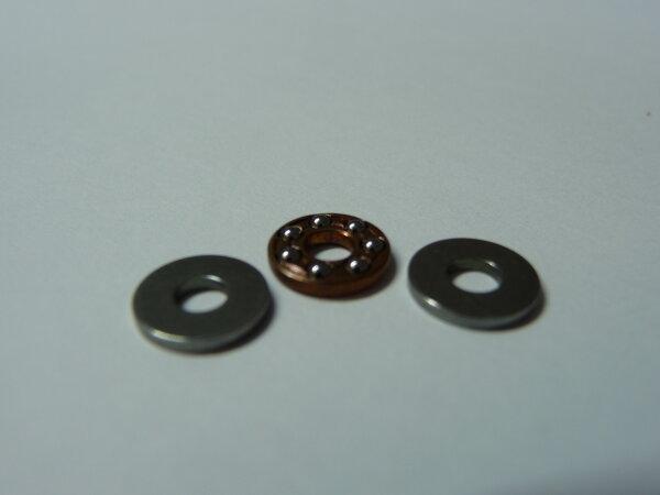 Miniatur-Axial-Rillenkugellager F3-8  - ohne Laufnute  ( 3x8x3,5mm )