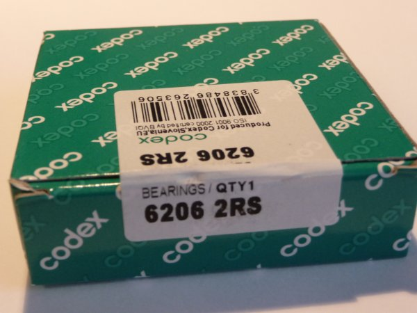 Rillenkugellager 6304-2RS ...... ** NEU ** ** 1x  CODEX 20x52x15mm .......