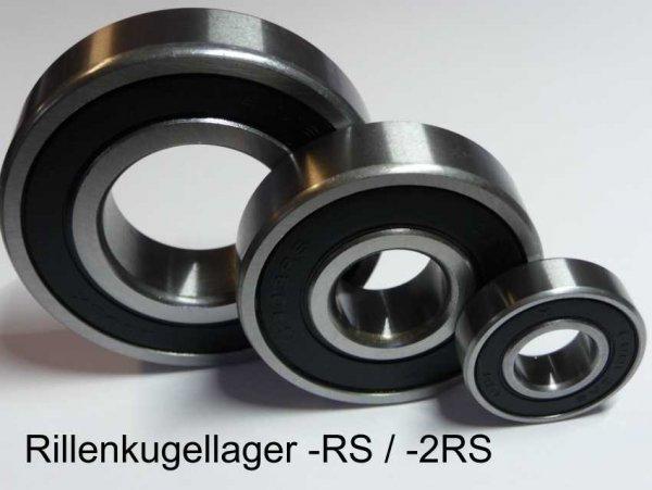 Rillenkugellager 6205-2RS/ 25,4mm - beidseitig Dichtscheiben ( 25,4x52x15mm )