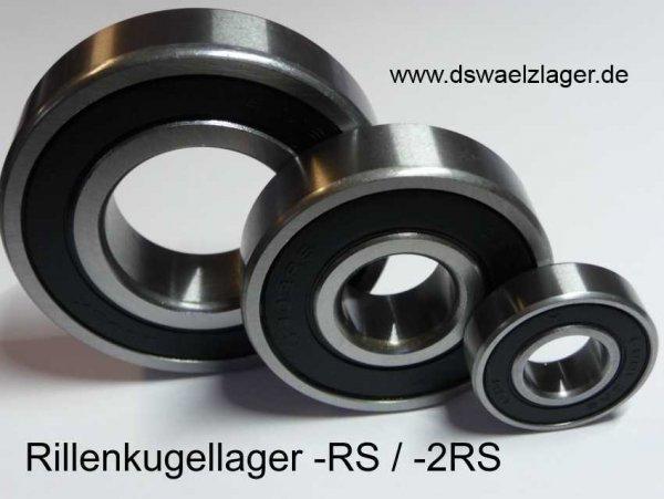 Rillenkugellager 6206-2RSR-C3 - FAG - beidseitig Dichtscheiben, Lagerluft C3 ( 30x62x16mm )