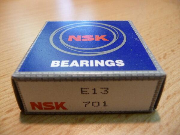 Schulterkugellager E13 - NSK   - mit Messingkäfig   ( 13x30x7mm )