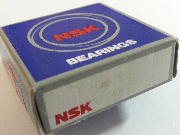 Schulterkugellager E19 - NSK - mit Messingkäfig ( 19x40x9mm )