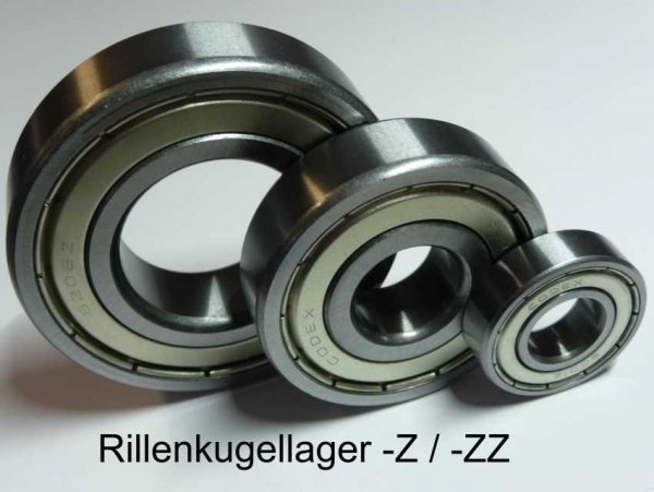 Rillenkugellager 606-ZZ  - beidseitig Stahldeckscheiben  ( 6x17x6mm )