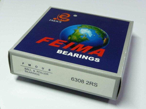 Rillenkugellager 6308-2RS - FMOUS - beidseitig Dichtscheiben  ( 40x90x23mm )