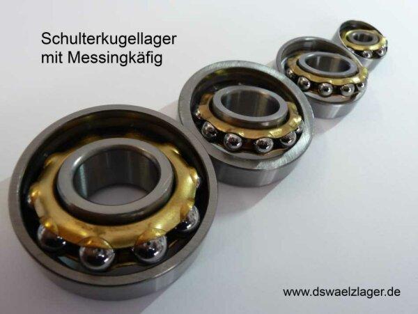 Schulterkugellager E20   - Messingkäfig ( 11 Kugeln )   20x47x12mm