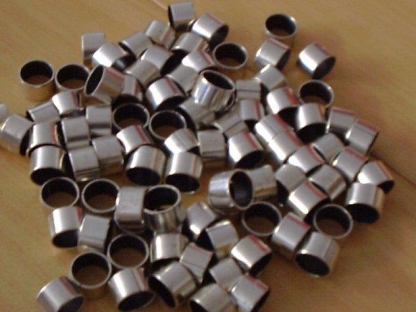 KJ 25x28x15  - Vielschicht-Gleitlager, gerollt, ISO 3547, Stahlrücken, Sinterbronze, PTFE-Innenschicht, Form J = zylindrisch
